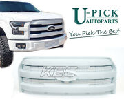 Kec Grille For 15-17ford F150 King Range Style Painted Pearl White