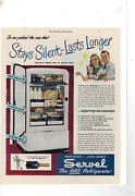 Nov 15 1947 Saturday Evening Post Servel Gas Refrigerator Silent Ad Print H410