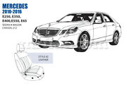 Mercedes E Class Front Leather Seat Cover Set 2010-16 Style 2 Oem New