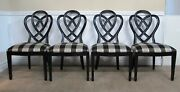 Ethan Allen Collectors Classics Dining Chairs Set Of 4 Ribbon Back Black 13-6200