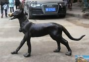 Huge Old Chinese Pure Bronze Fengshui Dog Hunting Dogs Police Dog Canine Statue
