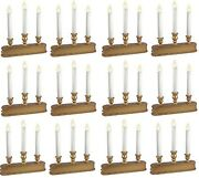 12 Sylvania V153988 10 3 Light Gold Battery Operated Christmas Candle Candolier