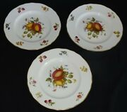 Royal Worcester England Delecta Set Of 3 Luncheon Plates Plates 9 -bone China