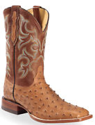 Handmade Menand039s Ostrich Print Leather Cowboy Mexican Western Taxes Jumper Boot