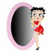 Extremely Rare Betty Boop Pink Mirror Polyresin 3d