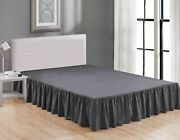 Super Soft Solid Brushed Microfiber 14 Gathered Bed Skirt/ Dust Ruffle