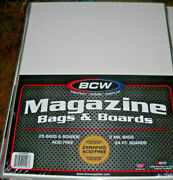 Dealer Lot Bcw Supplies Sheet Music Magazine Treasury Bags+boards Sealed 25each