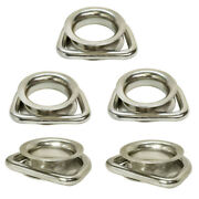 5 Pc Stainless Steel Marine Boat D Ring Swivel Link Round Thimble Rigging Wire