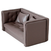 Miniature Leather Sofa Chair For Dolls 16 Scale Dollhouse Furniture Realistic