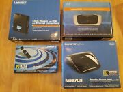 Home Networking Bundle - Cable Modem, Routers2 Wireless Adapter Original Boxes