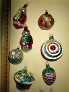Antique Lot Glass Ornaments/ball /santa  For Christmas Tree -germany