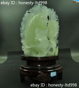100natural Xiu Jade Carved Ancient Auspicious Lucky Wealth Fish Goldfish Statue