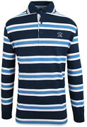Paul And Shark Yachting Menand039s Sweatshirt Polo Shirt Size L Blue White Striped