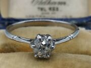 Vintage To Antique 18ct White Gold Diamond Engagement Style Ring