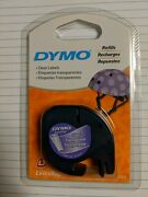 Dymo Letratag Plastic Labels Clear Refills 1/2 X 13and039