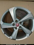 Jaguar F Pace Alloys 19, 5 Spoke, With Silver Finish T4a3988 W/t Badge New T/o