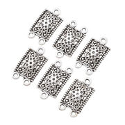 20xtibetan Silver Chandelier Components Links Charms Rectangle Pendant 23x12.5mm