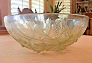 René Lalique Signed Opalescent Glass Footed Gui Bowl France 1924 No Defects