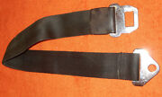 1965 1966 Ford Mustang Fastback Coupe Conv Gt Shelby Orig Black Front Seat Belt