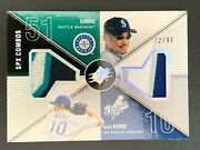 Ichiro Hideo Nomo Spx Combos Dual 2003 3 Color Game Worn Jersey Patch /90