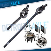 Front Wheel Bearing And U-joint Axle Shafts For 2005-2010 F-250 F-350 Srw Dana 60