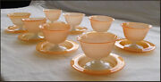 Stunning Stevens And Williams Alabaster Glass Sherbert / Sweets Set Rare Colour