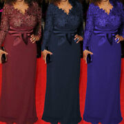 Plus Size Mother Of The Bride Dresses Formal Wedding 3/4 Sleeve Sequins Lace
