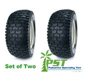 Set Of Two 18x6.50-8 Turf Tires For Garden Tractor Lawn Mower Riding Mower