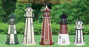 6-foot Poly Lumber Outdoor Lighthouse W/electric Rotating Light - U Choose Color