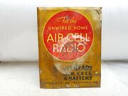 1930s Vintage Rare Unwired Home Air Cell Radio Eveready Battery Tin Sign U.s.a