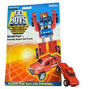 Vintage Tonka Gobots Small Foot 14 Friendly Robot 4x4 Truck Red W/ Card-back