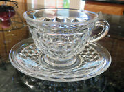 Fostoria American Flared Cup And Saucer Set 6 Available