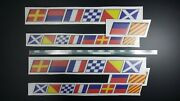 Flags Monterey Boat 2x70x6cm And 2x52x4.4cm + Free Fast Delivery Dhl Exp