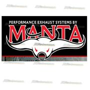 Manta 3 Quad Stainless Steel Exhaust For Ford Falcon Bf Xr8 Gt 5.4lt Sedan
