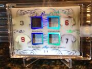 2017 Leaf Pearl Blue P4-04 Ruth/musial/williams/mantle Relic 3/4 Jersey 1/1