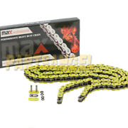 Yellow 520x114 O-ring Drive Chain Atv Motorcycle Mx 520 Pitch 114 Links