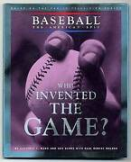 Geoffrey C Ward Ken Burns / Who Invented The Game First Edition 1994