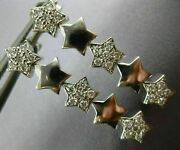 Estate .50ct Diamond 14kt White Gold Pave Shooting Star Hanging Earrings 14232