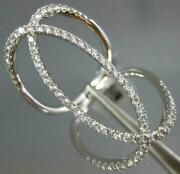 Estate Extra Large .62ct Diamond 18kt White Gold 3d Oval Love Knot Fun Ring