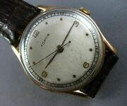 Antique Large 14kt Rose Gold Fortis Round Face Classic Mens Ladies Watch 23635