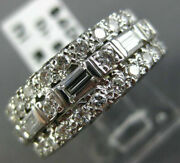 Antique Wide 2.55ct Diamond 14kt White Gold 3d Eternity Anniversary Ring 11610