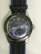Helbros Automatic Divers Watch All Stainless 17 Jewels 20 Atm