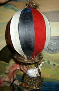 Antique Hot Air Balloon With Polichinelli Bisque Doll -christmas Tree -germany