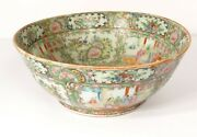 Cup Bowl To Punch Porcelain Canton Decor Characters Flowers Birds Xix Anddeg