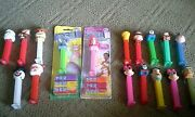 Pez Candy Dispensers Mixed Lot Of 17 Holidayand Character Fred Thomas Eeyore Ariel