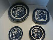 Johnson Brothers 16 Dish Set Willow Blue Made In England
