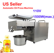 1500w Automatic Oil Press Machine Cold Hot Nut Seed Presser Stainless Steel 110v