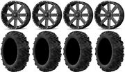 Msa Milled Flash 20 Utv Wheels 34 Moto Mtc Tires Textron Wildcat Xx