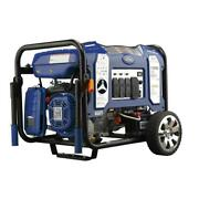 Ford 11,050-w Portable Dual Fuel Powered Electric Start Generator With Wheel Kit
