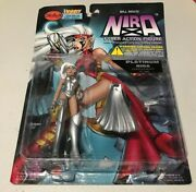 New 1997 Bill Mausand039 Nira Cyber Action Figure 6 With Cape And Cannon Skybolt Toy